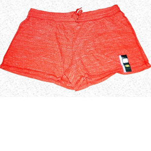 Athletic Works Knit Drawstring Shorts - Red F17